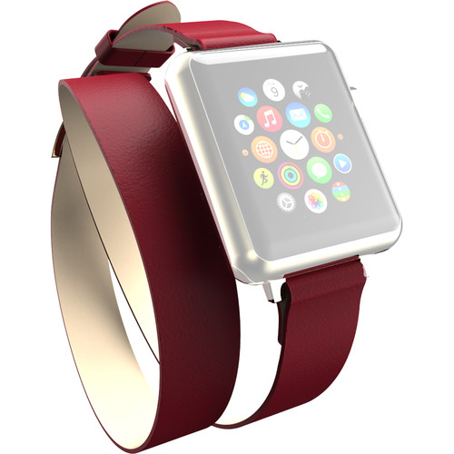 Incipio Reese Double Wrap Band for Apple Watch (38mm, Red)