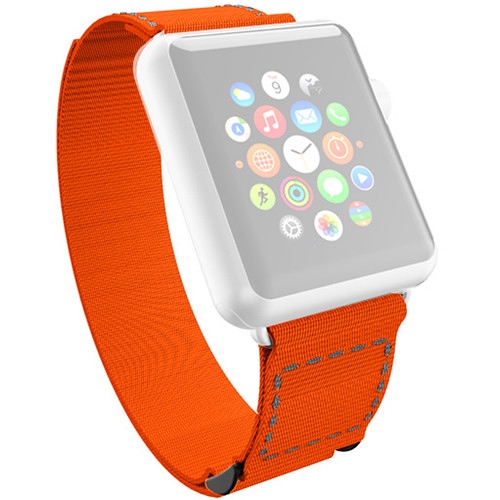 Incipio Jacquard Stitch Band for Apple Watch (38mm, Orange with Gray Stitching)