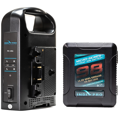 IndiPRO Tools Micro-Series 98Wh Li-Ion GoldMount Battery with Dual GoldMount Battery Charger Kit