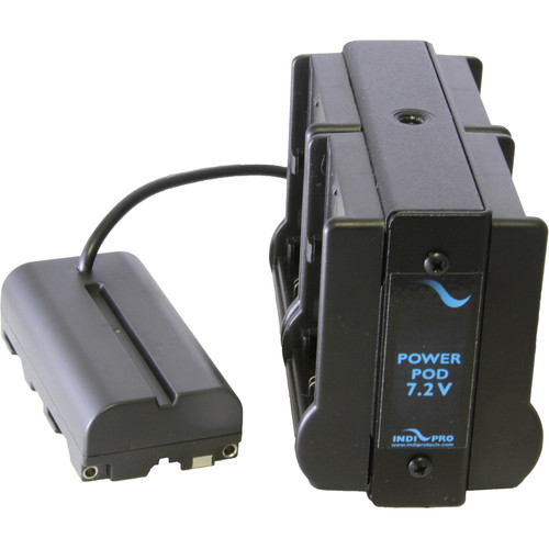 IndiPRO Tools Quad Power Grid 4 Canon LP-E6 Battery Adapter for Accessory/Camera with Sony L Series Battery