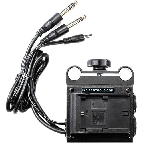 IndiPRO Tools Dual LP-E6 Power Grid & XLR Audio Box for Blackmagic Cinema & Production Camera 4K (15mm Rod Bracket)