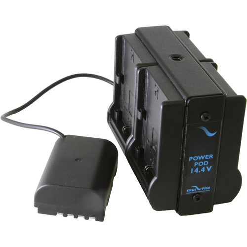 IndiPRO Tools Quad Power Grid 4 Canon LP-E6 Battery Adapter for GH4 Camera