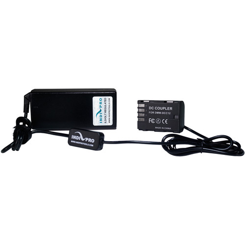 IndiPRO Tools AC Power Supply with Dummy Battery for Panasonic GH5 Camera
