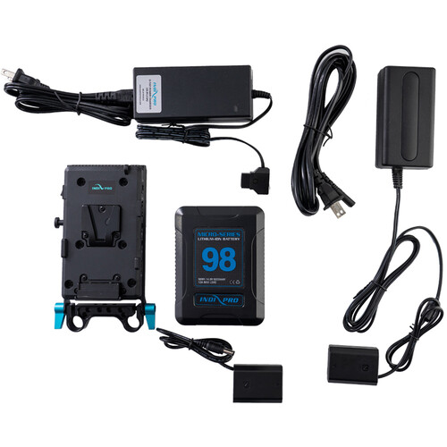 IndiPRO Tools 98Wh V-Mount Battery and Complete Power Kit for Sony a7R III & a7 III