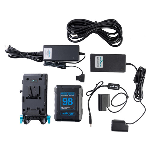 IndiPRO Tools 98Wh V-Mount Battery and Complete Power Kit for Panasonic GH4/GH5
