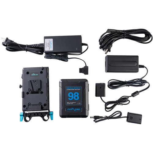 IndiPRO Tools 98Wh V-Mount Battery and Complete Power Kit for Sony a7 Series