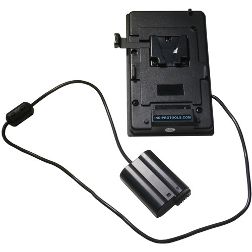 """IndiPRO Tools V-Mount Plate with EN-EL15 Dummy Battery (1/4""""-20 Thread)"""