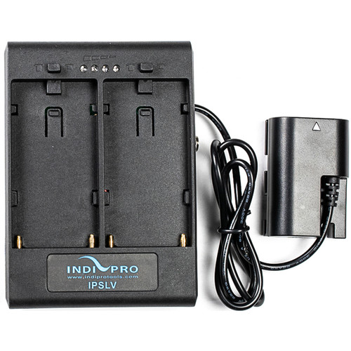 IndiPRO Tools Dual L-Series Power Adapter to Canon LP-E6 Dummy Battery