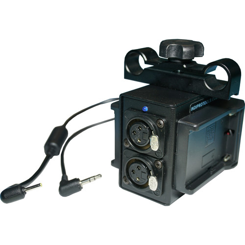 IndiPRO Tools Power Grid & XLR Audio Box with Dual L- Series Plates for Blackmagic Pocket Cinema Camera