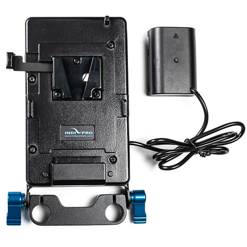IndiPRO Tools V-Mount Plate to Panasonic DMW-BLF19-Type Dummy Battery