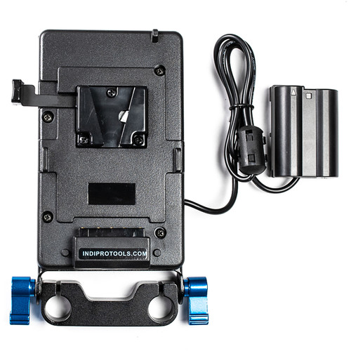 IndiPRO Tools V-Mount Plate with EN-EL15 Dummy Battery (15mm Rod Bracket)