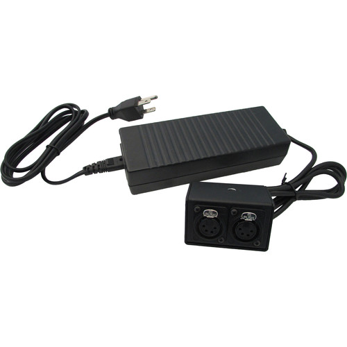 IndiPRO Tools 12V Power Supply with Two 4-Pin Female XLR Outputs (10A)