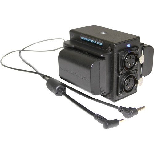 IndiPRO Tools Dual LP-E6 Power Grid & XLR Audio Box for Blackmagic Pocket Cinema Camera