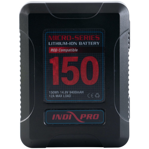 IndiPRO Tools Micro-Series V-Mount Li-Ion Battery (150Wh, RED Compatible)