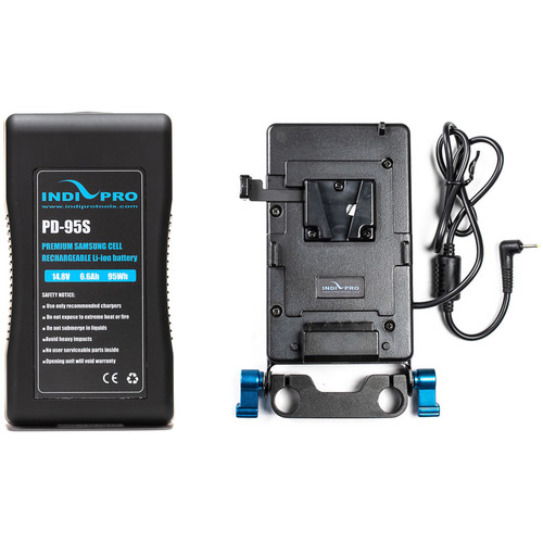 IndiPRO Tools V-Mount Battery and Plate with Blackmagic Pocket Cinema Camera Cable Kit