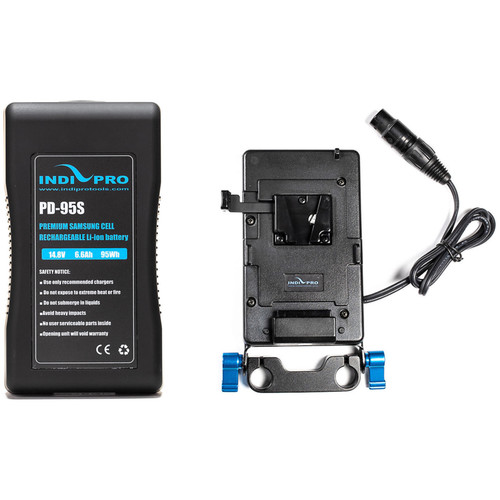 IndiPRO Tools V-Mount Battery and Plate with 4-Pin XLR Kit