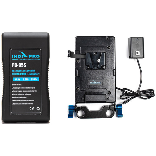IndiPRO Tools V-Mount Battery and Plate with Sony NP-FW50 Dummy Battery Kit
