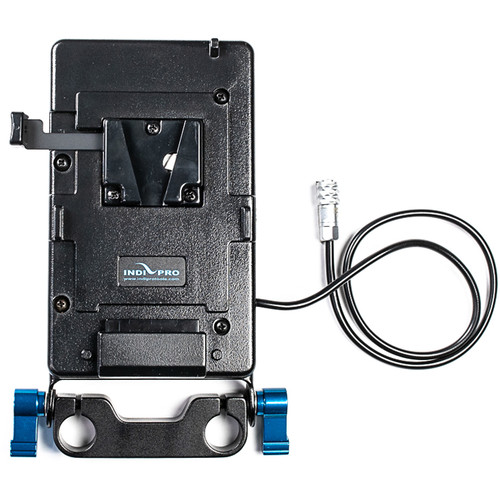 """IndiPRO Tools V-Mount Battery Plate with 15mm Rod Mount for BMPCC 4K (16"""")"""