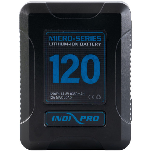 IndiPRO Tools Micro-Series V-Mount Li-Ion Battery (120Wh)
