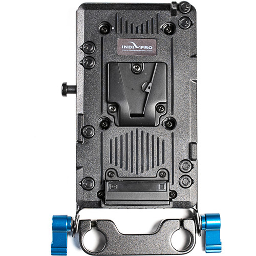 IndiPRO Tools Battery Adapter Plate with 15mm Rod System (V-Mount)