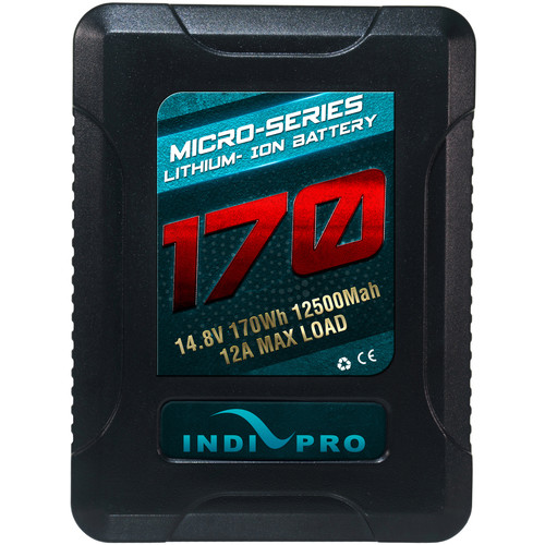 IndiPRO Tools Micro-Series V-Mount Li-Ion Battery (170Wh)