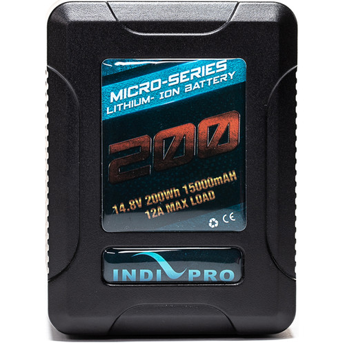 IndiPRO Tools Micro-Series V-Mount Li-Ion Battery (200Wh)