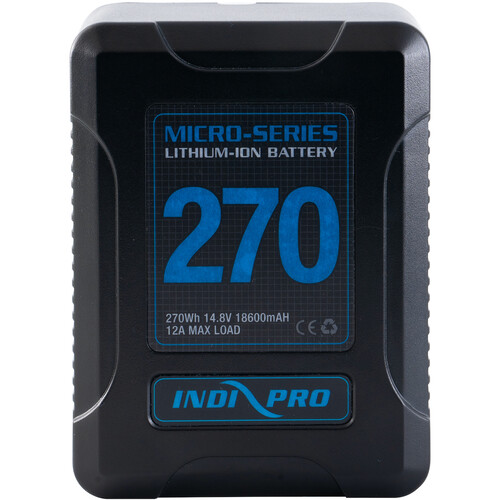 IndiPRO Tools Micro-Series V-Mount Li-Ion Battery (270Wh)