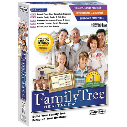 Individual Software: Individual Software Family Tree Heritage 7 (Download