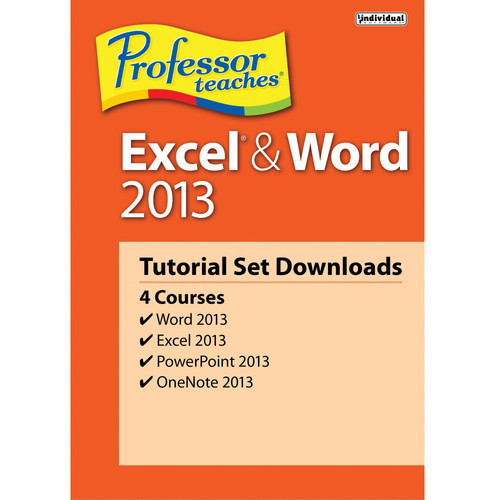 Individual Software Professor Teaches Excel & Word 2013 Tutorial Set (Download)