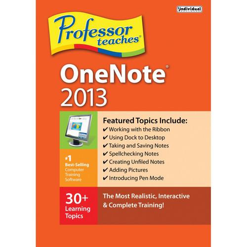 Individual Software Professor Teaches OneNote 2013