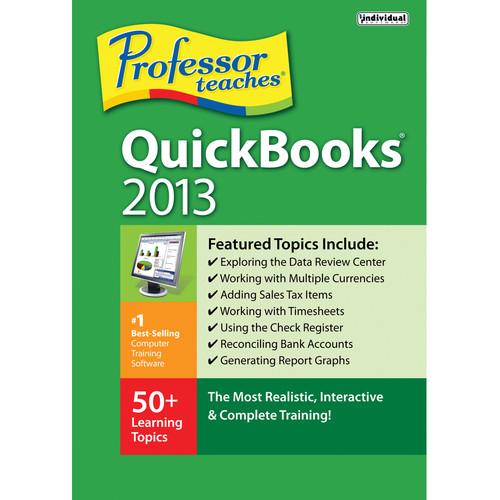 Individual Software Professor Teaches QuickBooks 2013
