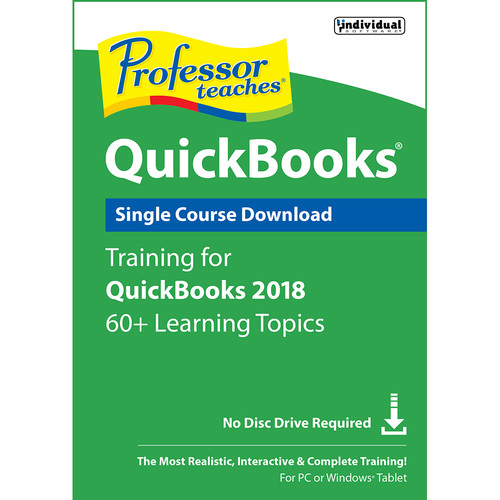 Individual Software Professor Teaches QuickBooks 2018 Single Course (Download)