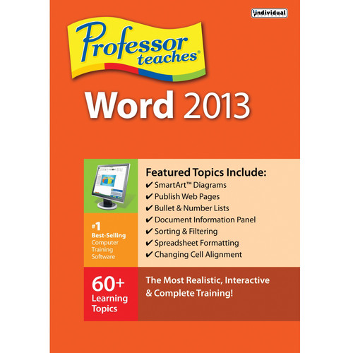 Individual Software Professor Teaches Word 2013