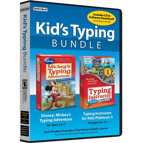 Individual Software Kid's Typing Bundle (5-User Family License, Download)