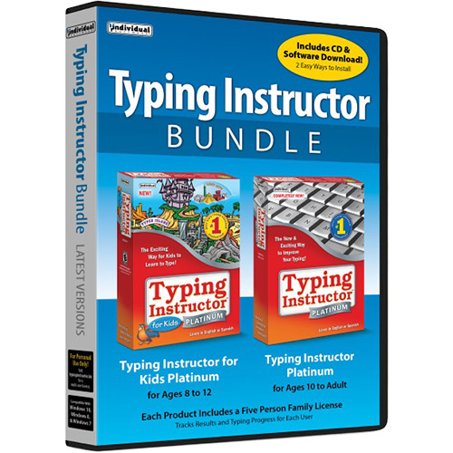 Individual Software Typing Instructor Bundle (5-User Family License, Download)