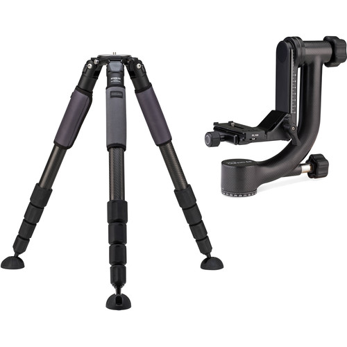 Induro GIT505XXL Grand Series 5 Stealth Carbon Fiber Tripod with Benro GH2C Gimbal Head Kit