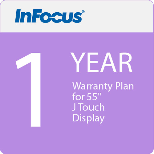 "InFocus 1 Year Warranty Plan for 55"" J Touch Display (E Delivery)"