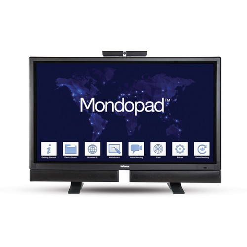 "InFocus Mondopad 57"" Video Conferencing LED Edge-Lit Display with Table Stand"