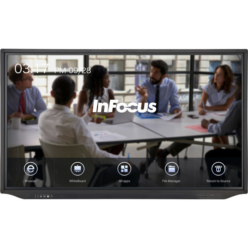 "InFocus JTouch Plus 75"" 4K Touch Display with Anti-Glare and Android"