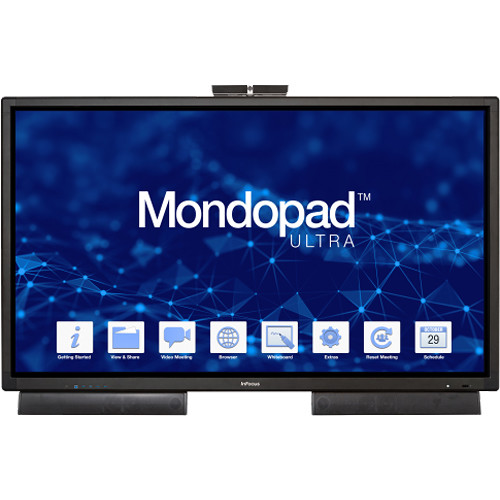 "InFocus 85"" Mondopad Ultra Touchscreen Collaboration System with Soundbars"