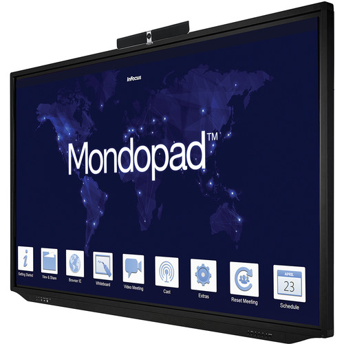 """InFocus 86"""" Mondopad 4K Touch Display Integrated I7 PC with Camera, Mouse, Keyboard, Anti-Glare"""