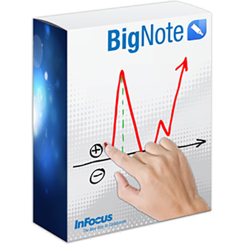 InFocus BigNote 1.2 Whiteboard Software for Windows 7, 8 & 10 Devices (10-Seat License)