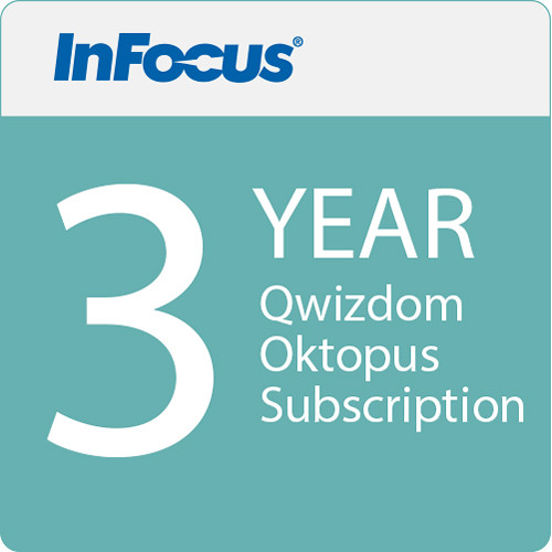 InFocus Qwizdom Oktopus Software and 3 Year Blend Subscription (E-Delivery)