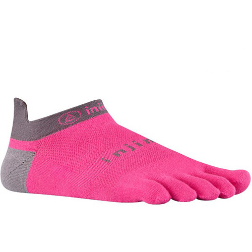 Injinji RUN 2.0 Large Lightweight No-Show Socks (Canyon Pink)