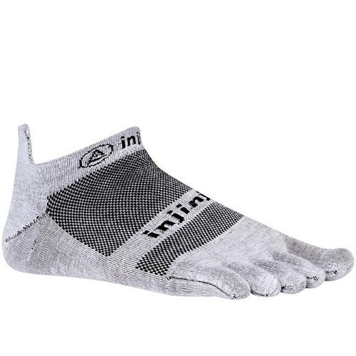 Injinji RUN 2.0 Large Lightweight No-Show Socks (Gray)