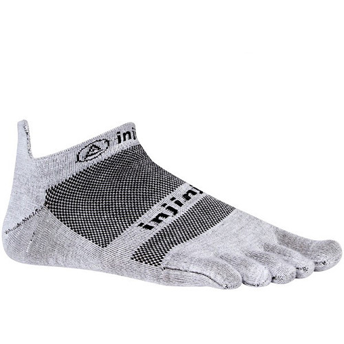 Injinji RUN 2.0 X-Large Lightweight No-Show Socks (Gray)