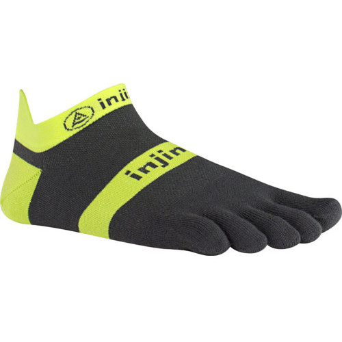 Injinji RUN Medium Lightweight No-Show Toesocks (Yellow/Slate)