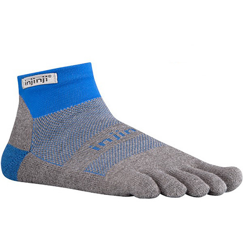 Injinji Run 2.0 Large Original Weight Mini-Crew Toesocks (Mariner Blue)