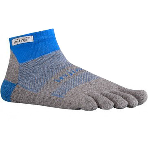 Injinji RUN 2.0 Large Midweight Mini-Crew Toesocks (Mariner Blue)