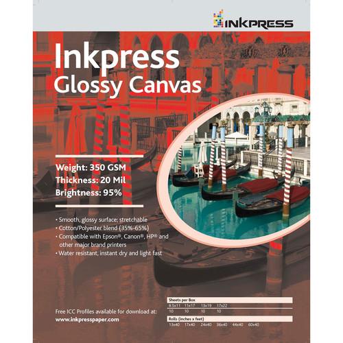 """Inkpress Media Glossy Canvas (13"""" x 35' Roll)"""